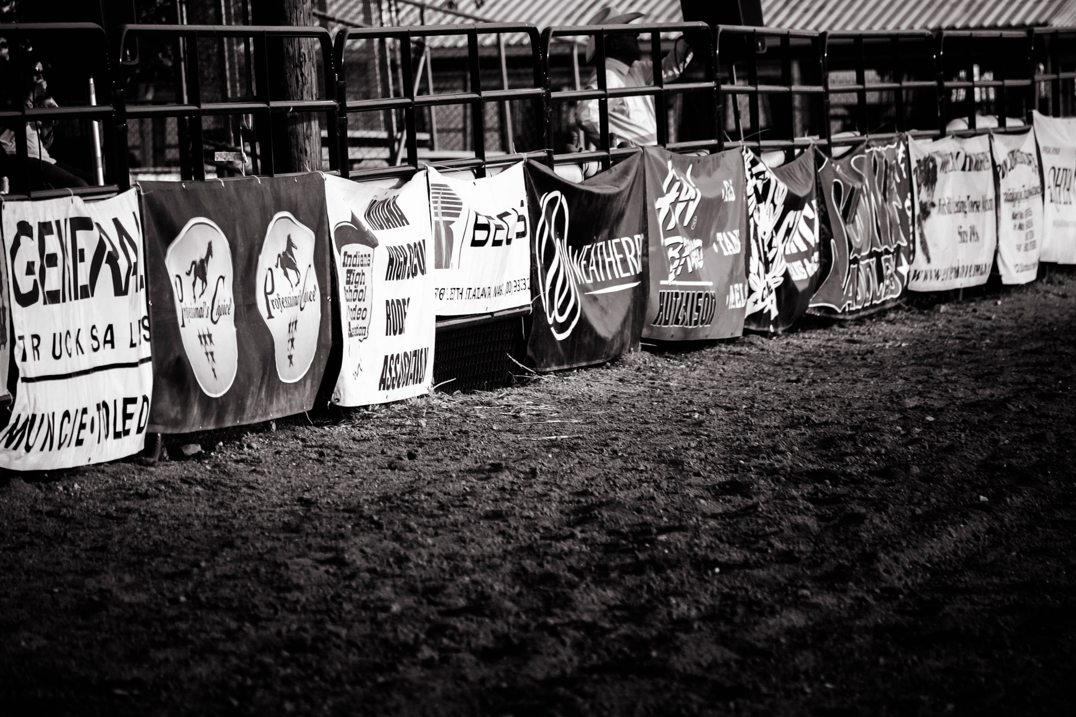 assorted banner display