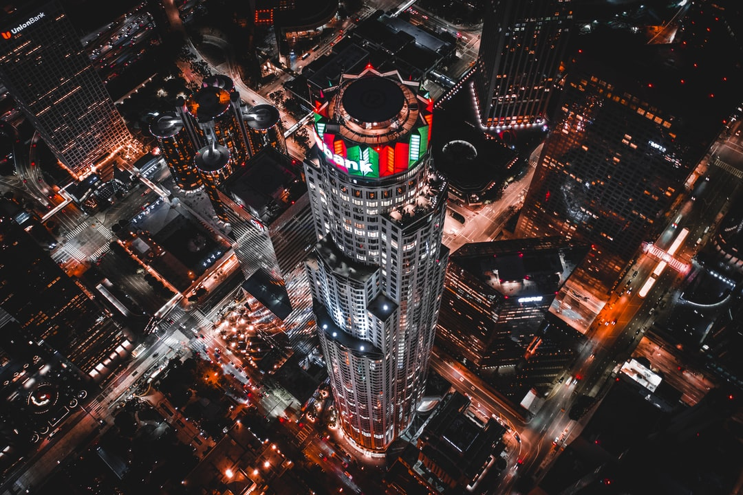This is the U.S. Bank Tower in Los Angeles. This building is special to me because it was a central location in my favorite movie when I was a kid, Harley Davidson and the Marlboro Man which I watched a thousand times and never imagined being there in person. Here I am, flying above it :)