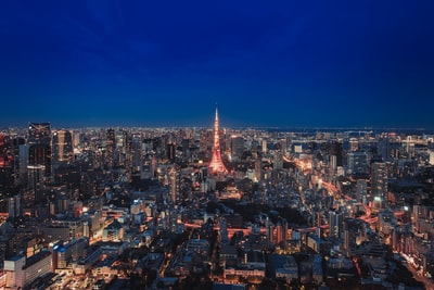 city during nighttime tokyo zoom background
