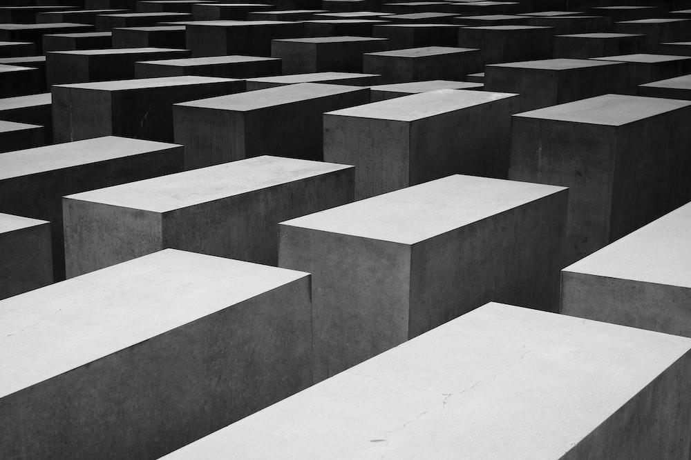 gray blocks of concrete