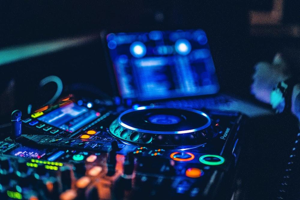 lighted DJ mixer