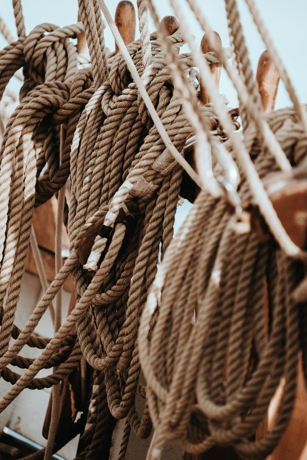 ropes on rope rack