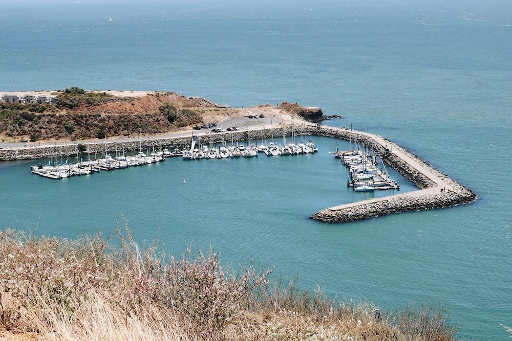 gray concrete dock