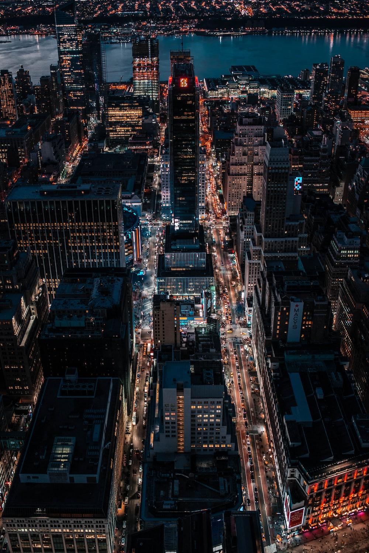 aerial photo of city skylines