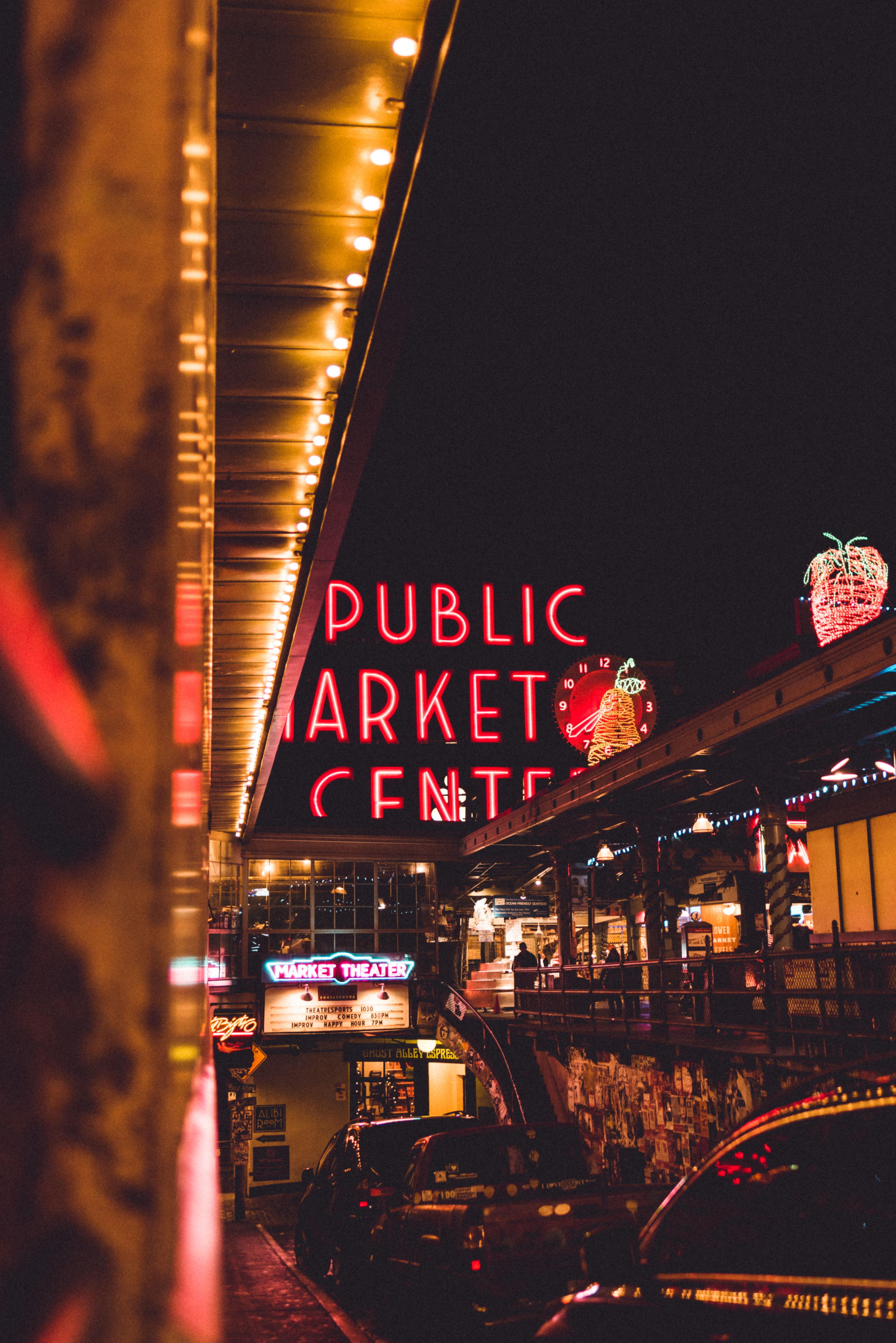 public market during night time