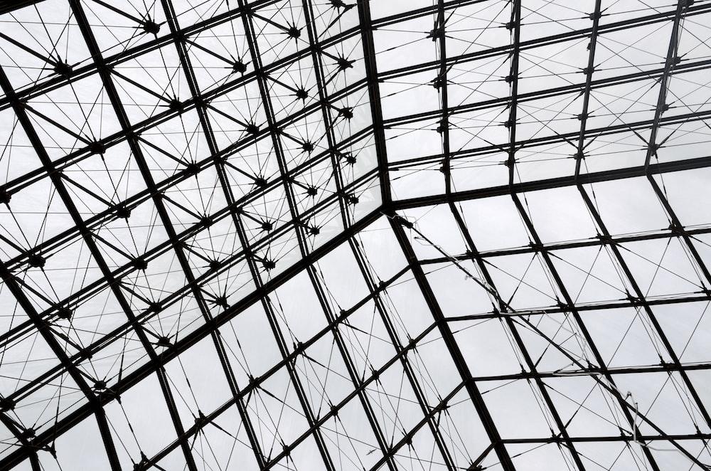 gray metal roof frame