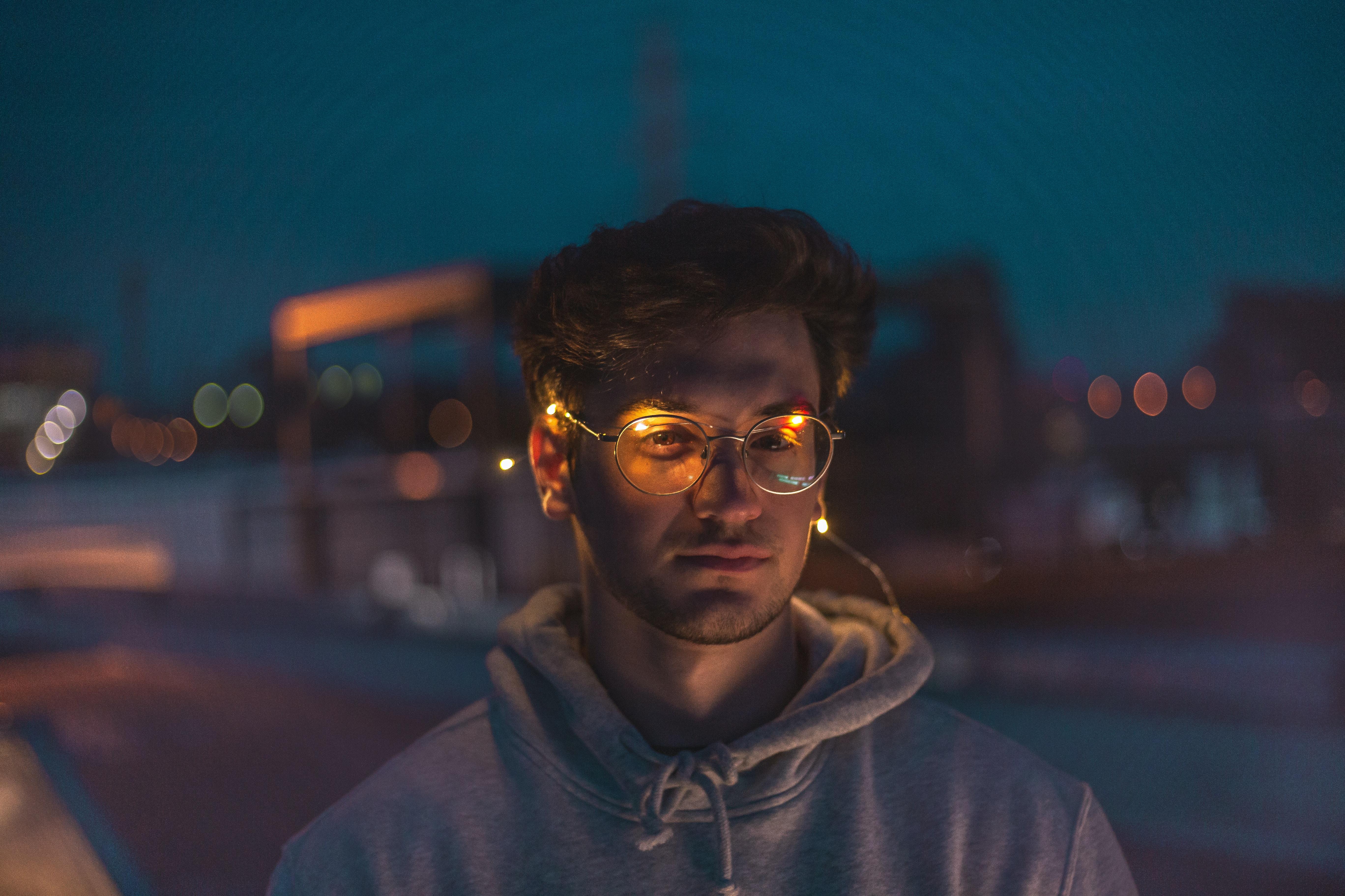 men's black framed eyeglasses