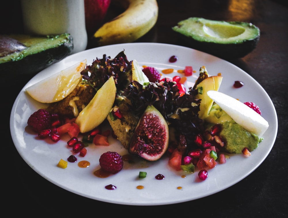 fruits salad dish in plate