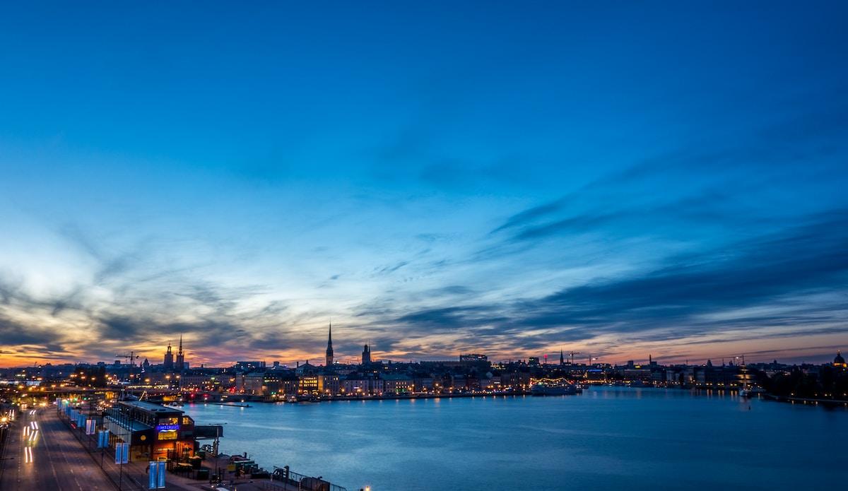 stockholm sweden at night