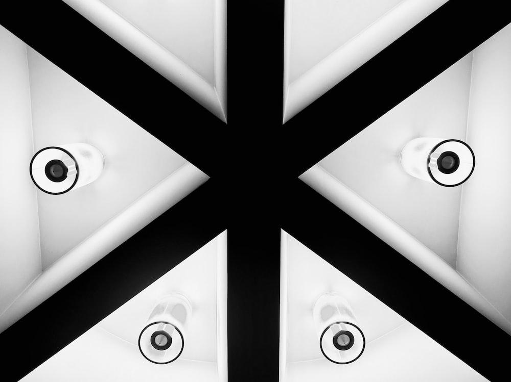 black and white false ceiling