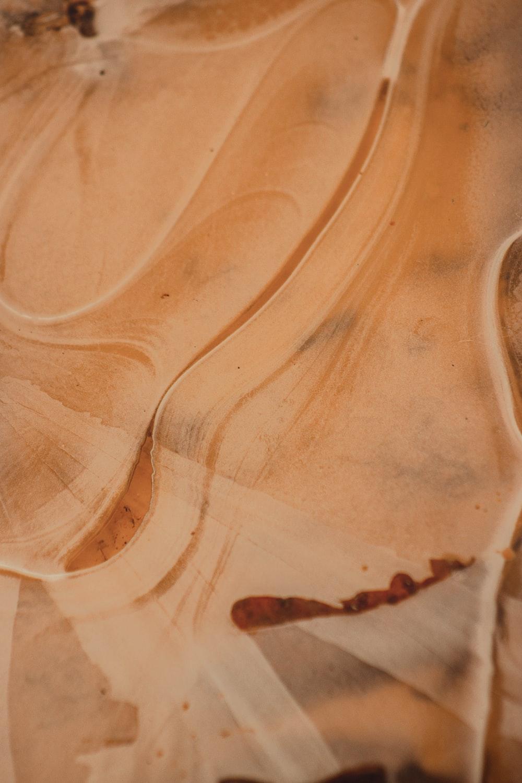 white and orange ceramic plate