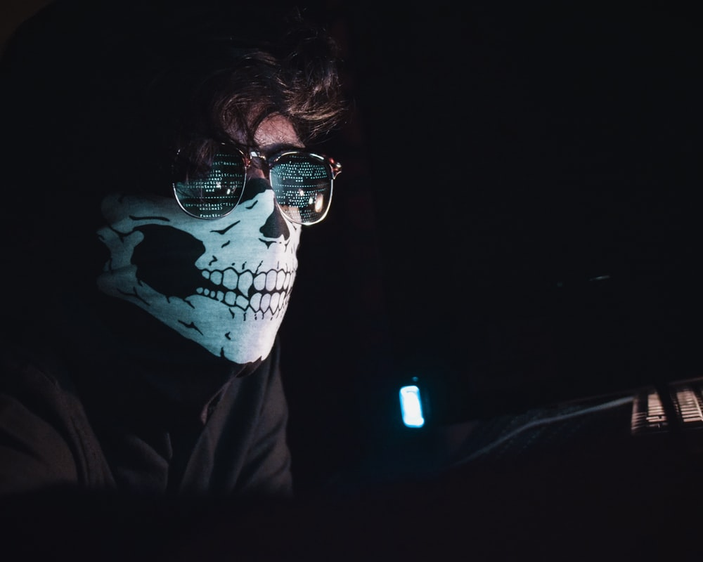 person wearing mask