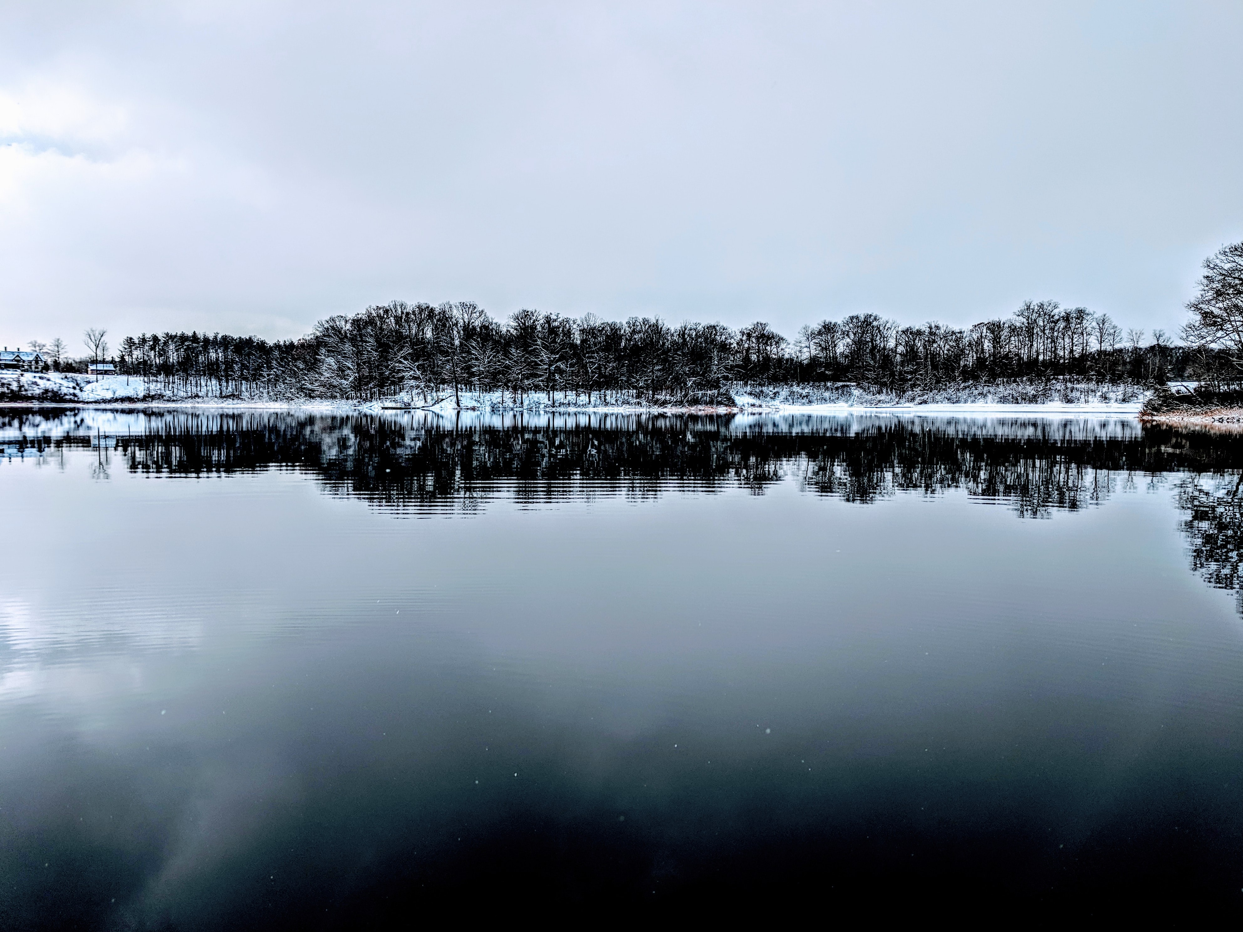 body of water under white clouds