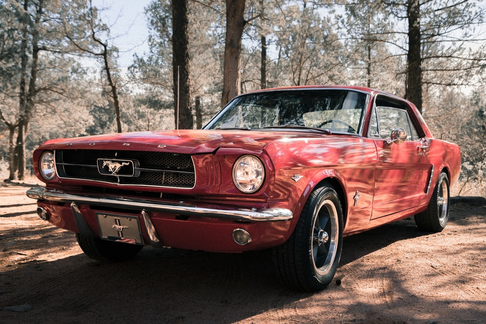 pink Ford Mustang