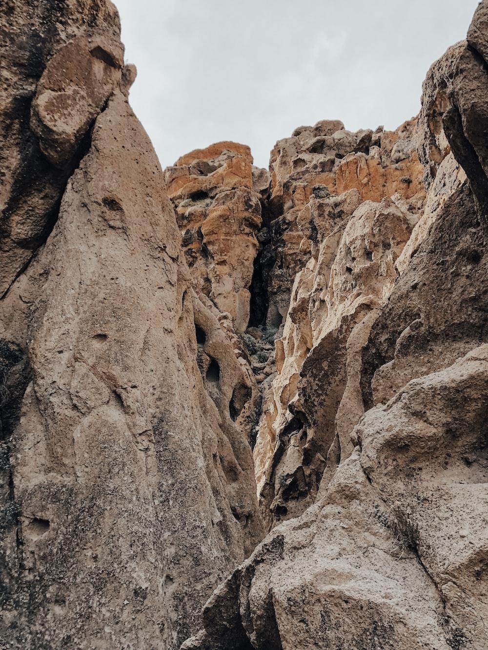 brown cliff mountain