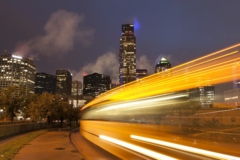 timelapse photography of city during night