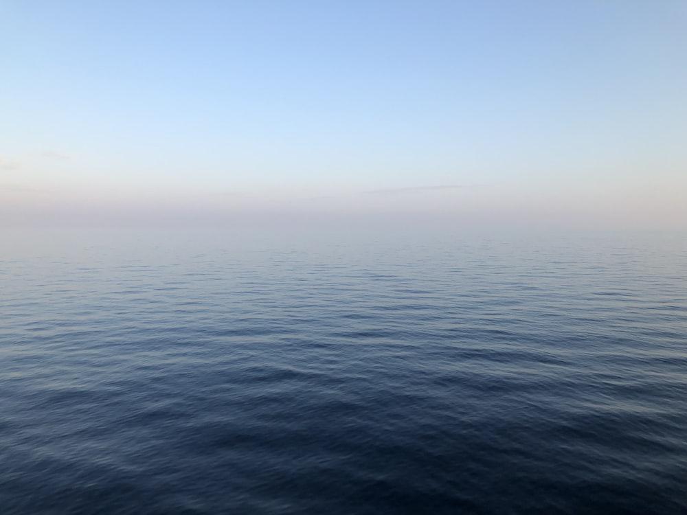 calm blue sea