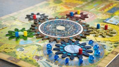multicolored game board