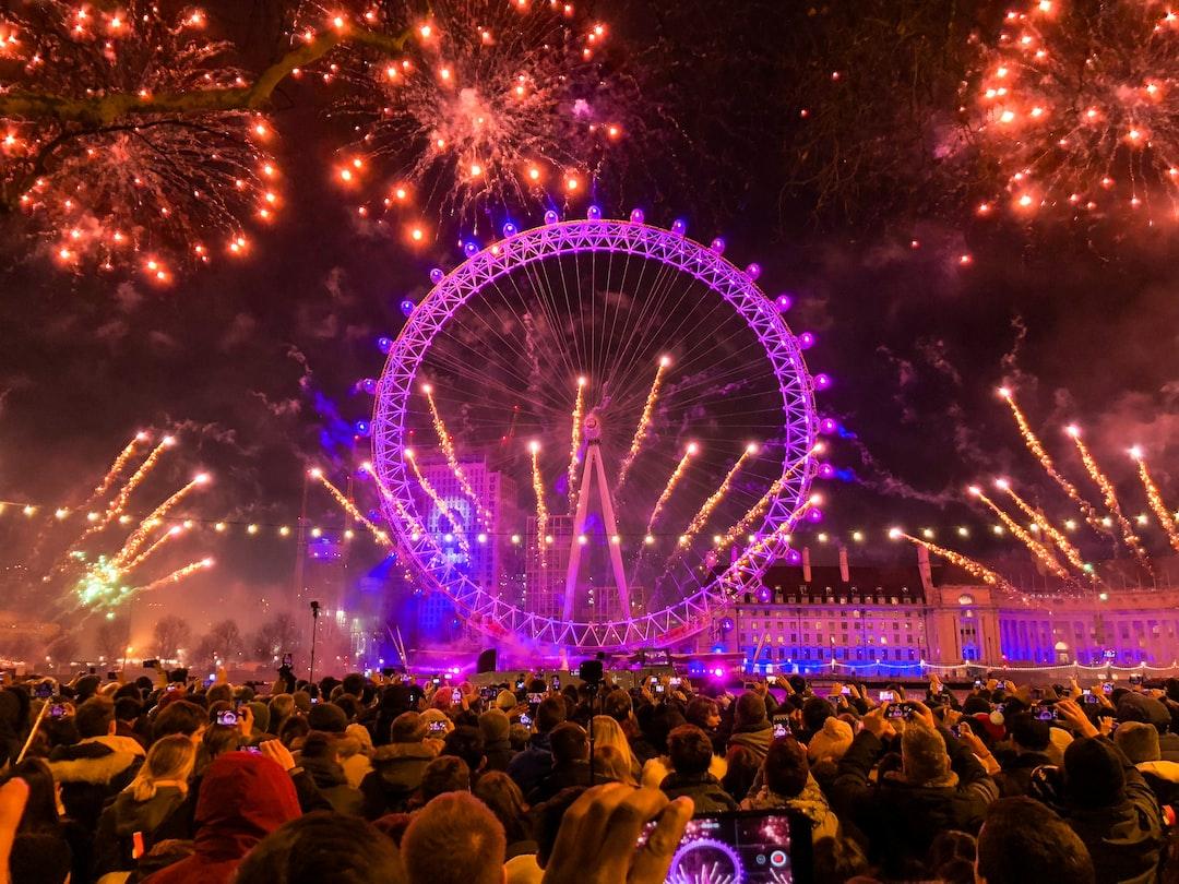London New Years Eve Fireworks at London Eye