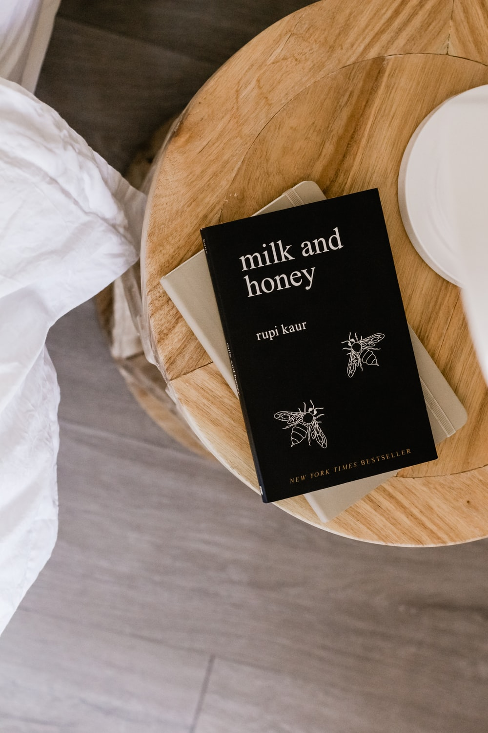 Milk and Honey by Rupi Kaur book on table