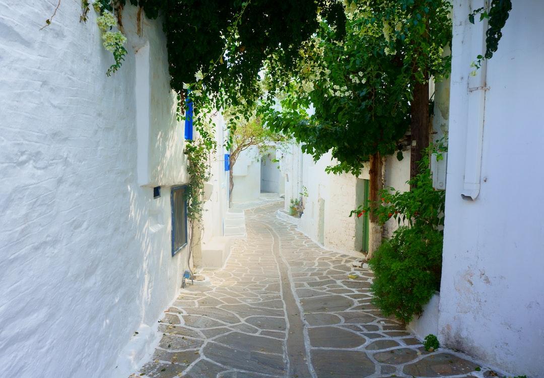 Fantasy road on Paros, Cycladic Islands, Greece