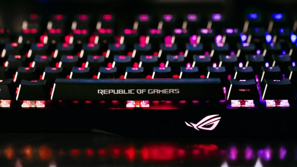 black ROG gaming keyboard