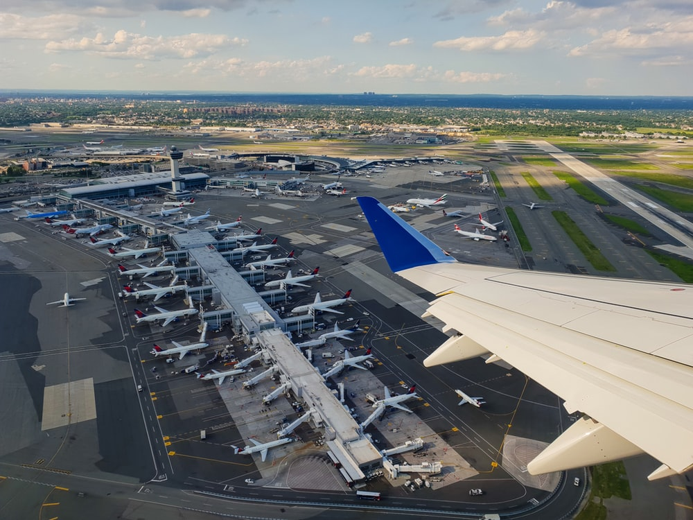 aerial view photography of airport