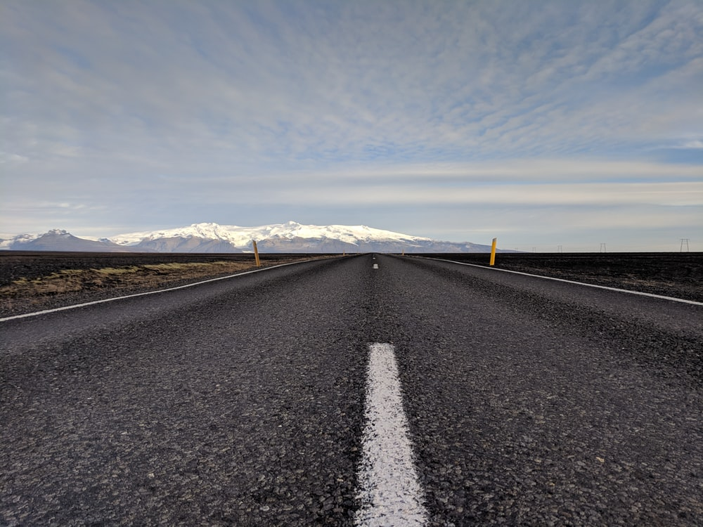 road with broken white line at the middle