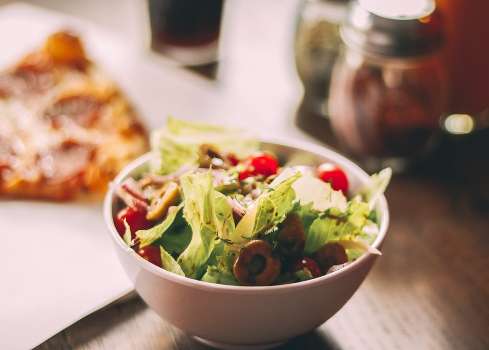 veggies with cherries in bowl