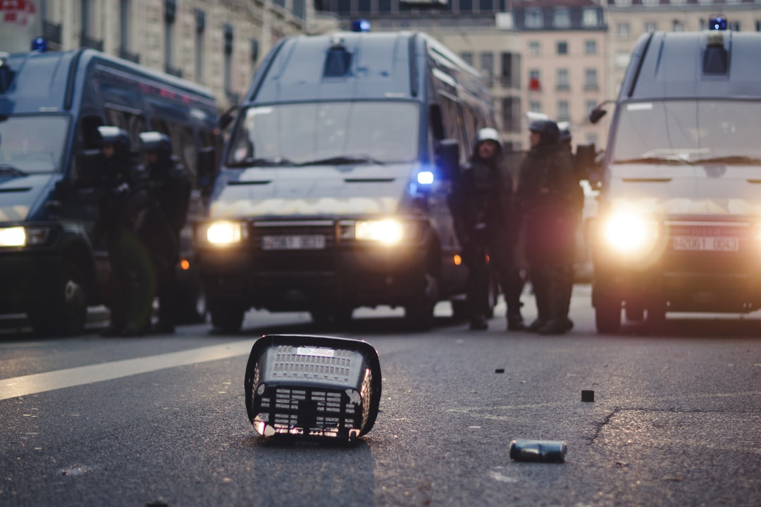 During yellow vests protests massive police presence is seen in the city.  Police violence is at its highest since 1968. As of now, 23 persons have lost an eye (https://pbs.twimg.com/media/D41GrQrX4AAMCB6.jpg:large). Recently an independant journalist, got arrested (https://twitter.com/GaspardGlanz). Violence continues, even though Amnesty International and the UN condemned the use of excessive force against protesters (https://www.amnesty.org/en/latest/news/2018/12/police-must-end-use-of-excessive-force-against-protesters-and-high-school-children-in-france/).