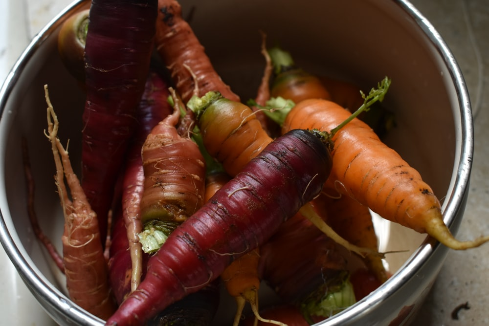 orange and brown carrot