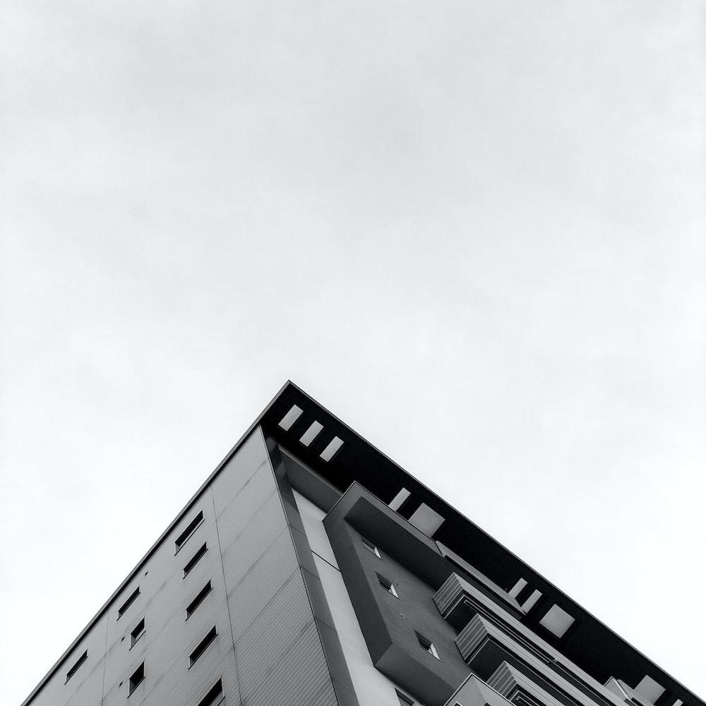 low angel photo of concrete building