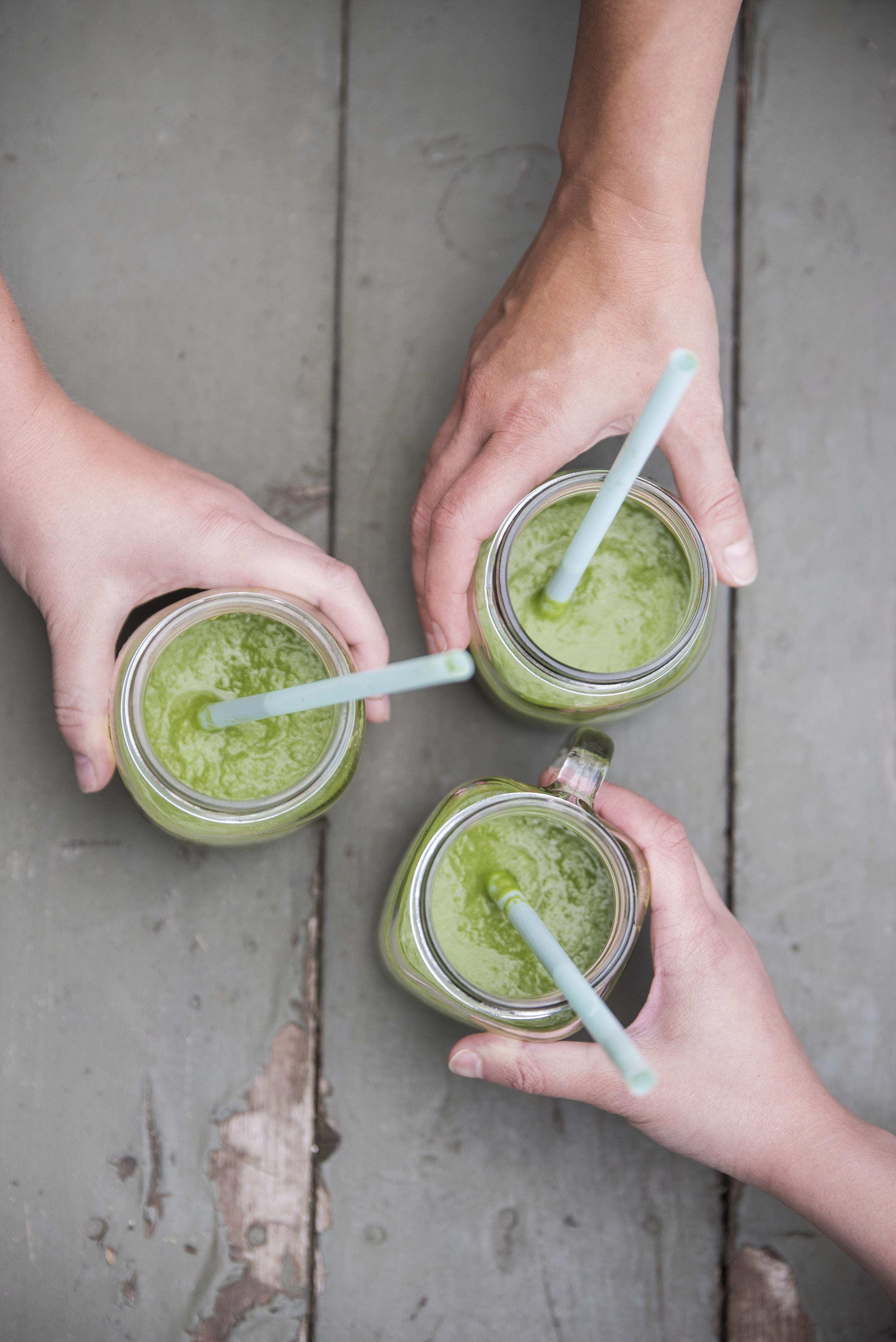 three green beverages