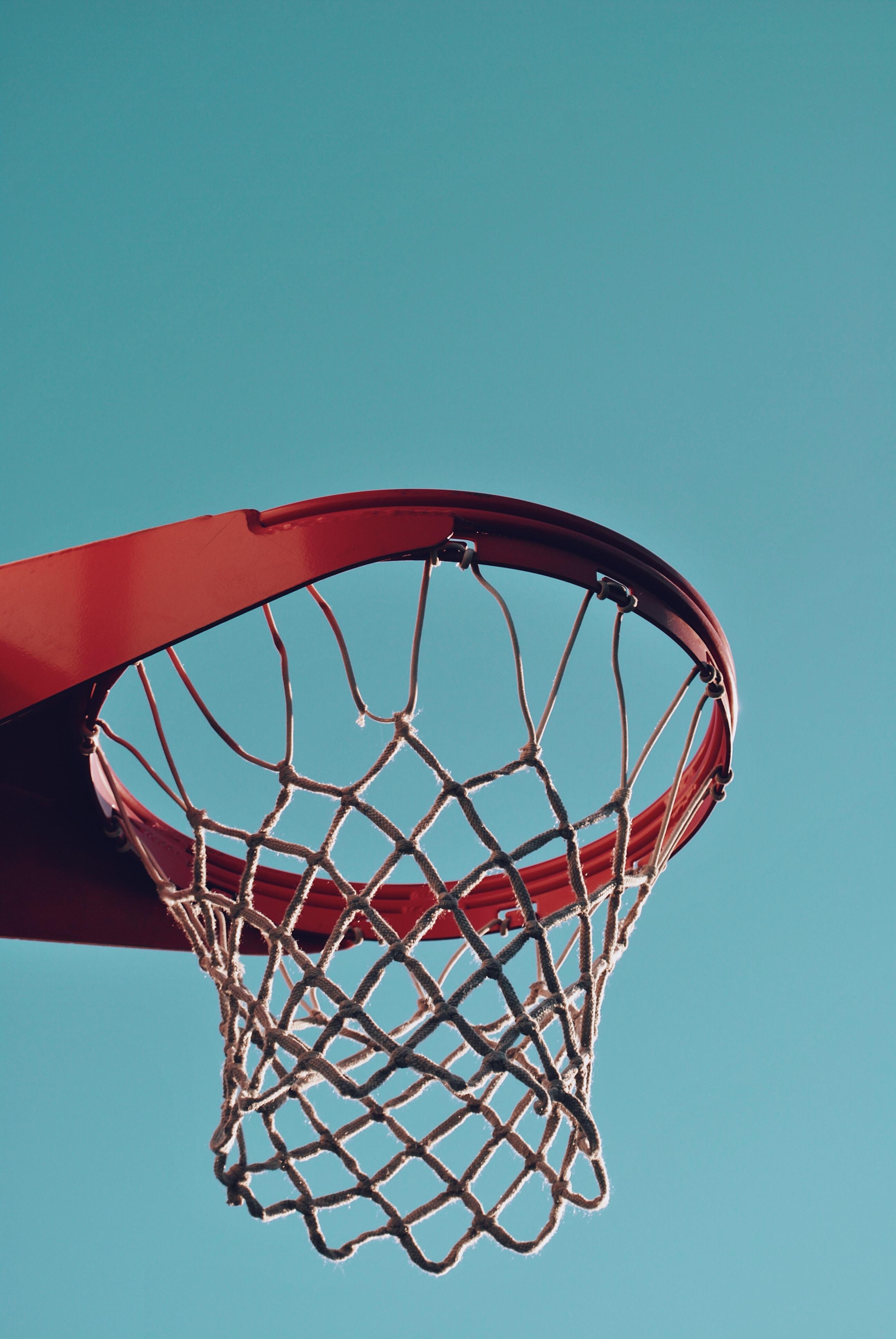 red basketball hoop