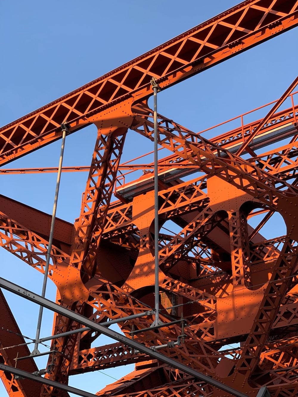 orange metal tower