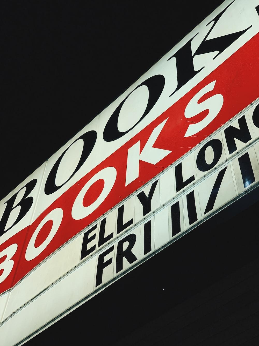 book books signag
