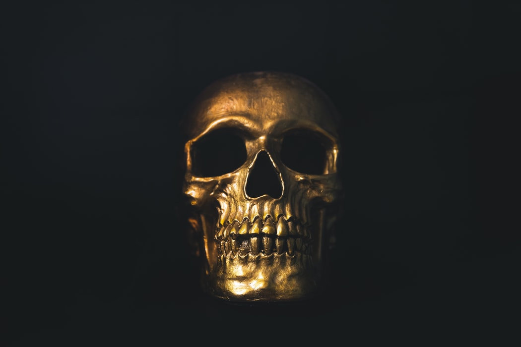 Gold Skull | 10 Halloween Decorations You Need In Your Life at https://youresopretty.com/halloween-decorations/