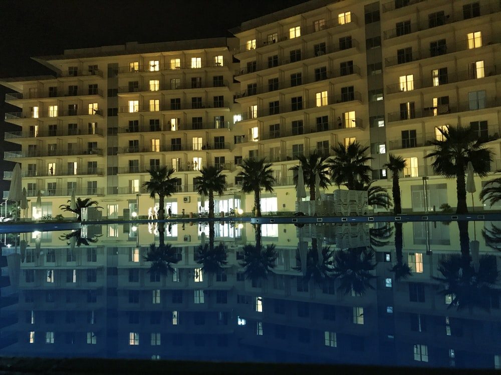 hotel resort with outdoor pool