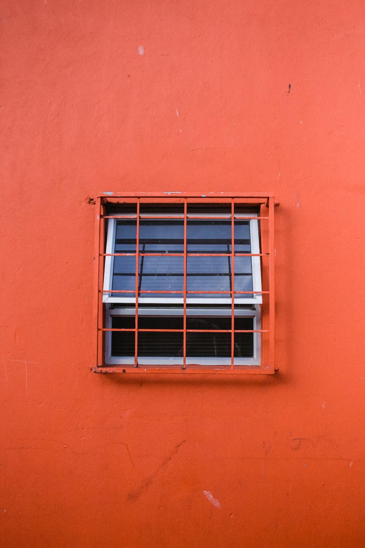 orange painted building