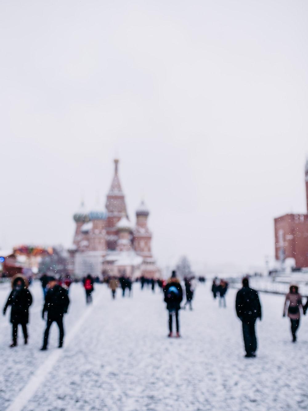 people walking near Saint Basil's Cathedral