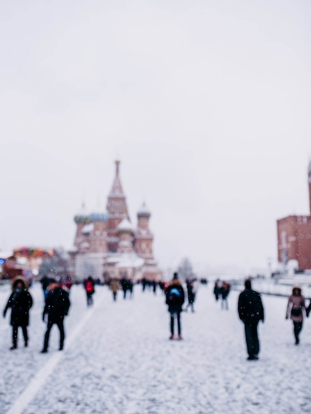 people walking near Saint Basil's Cathedral