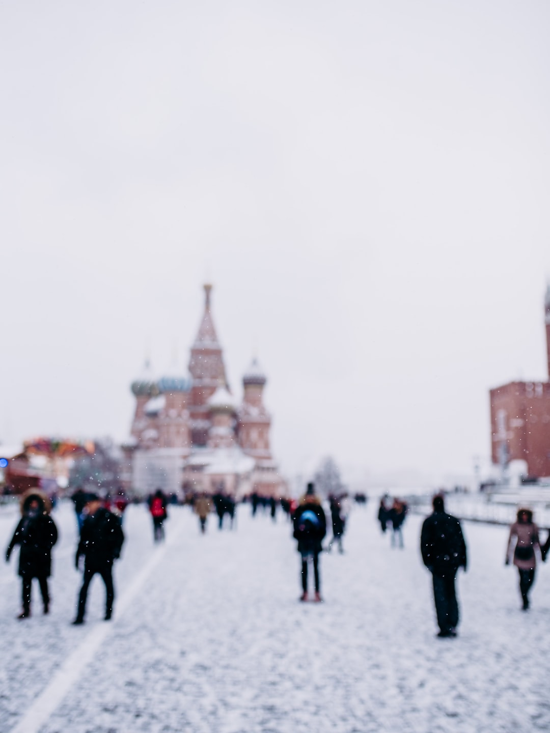 Cathedral Saint Basil under the snow!