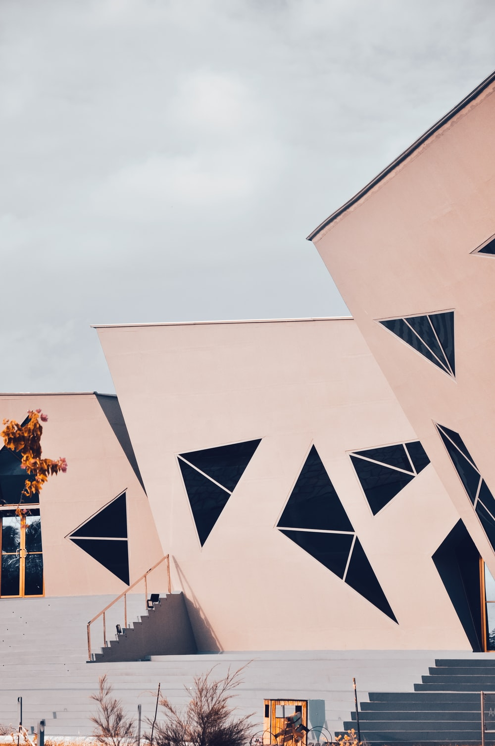 white abstract building