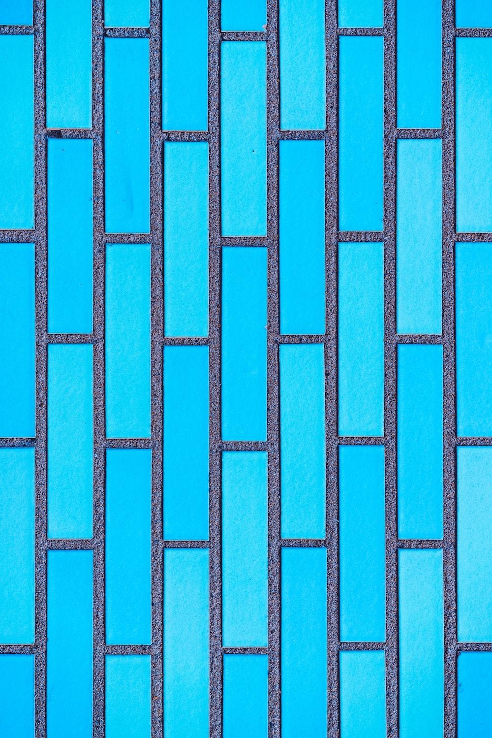 teal and grey brick vector