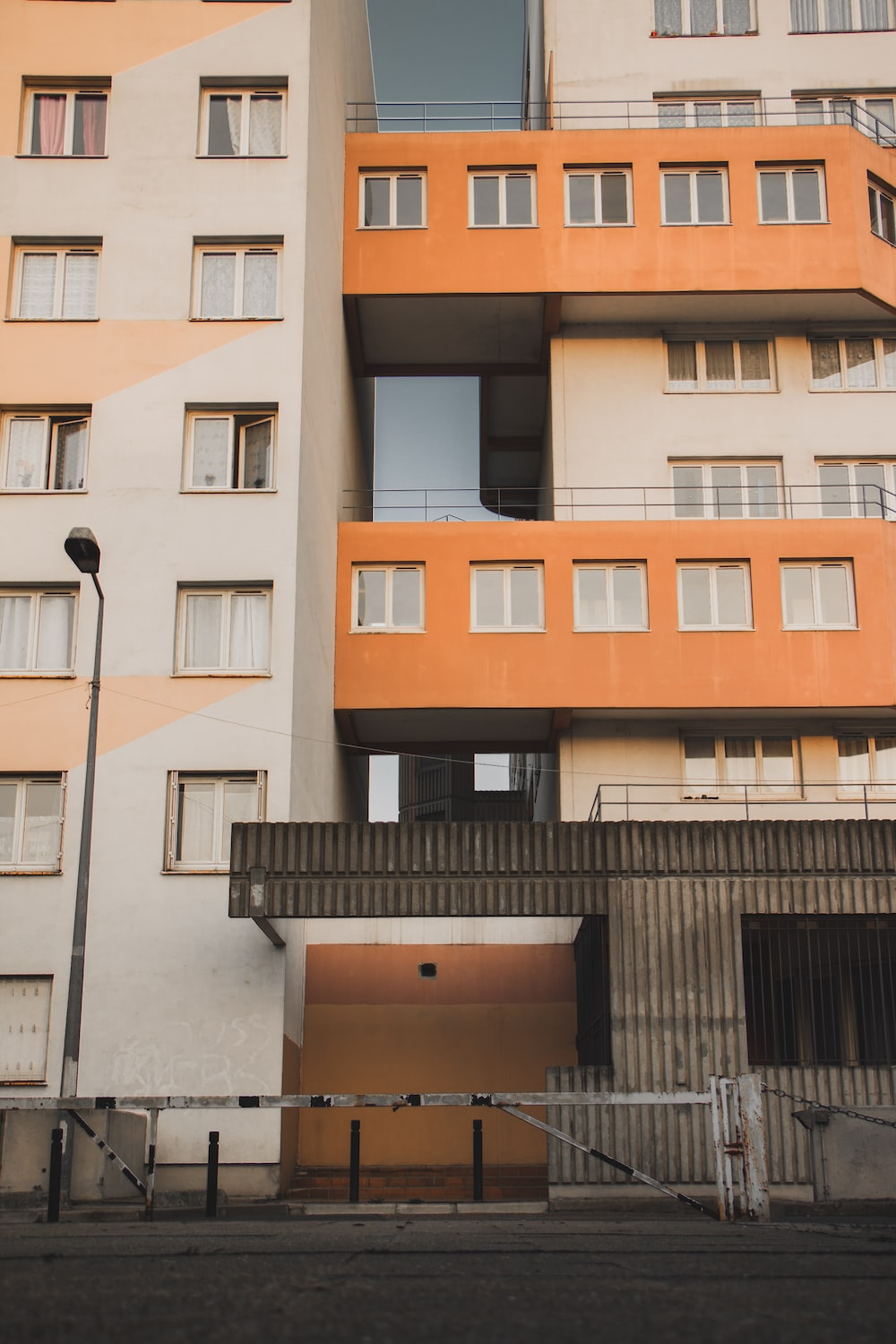 orange and white building