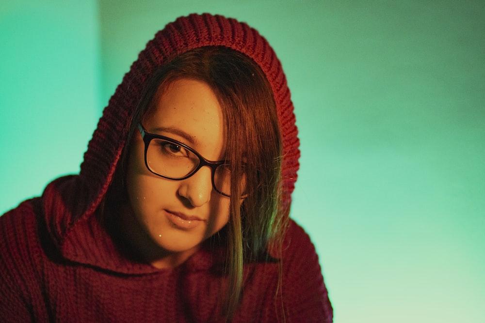 woman wearing hoodie
