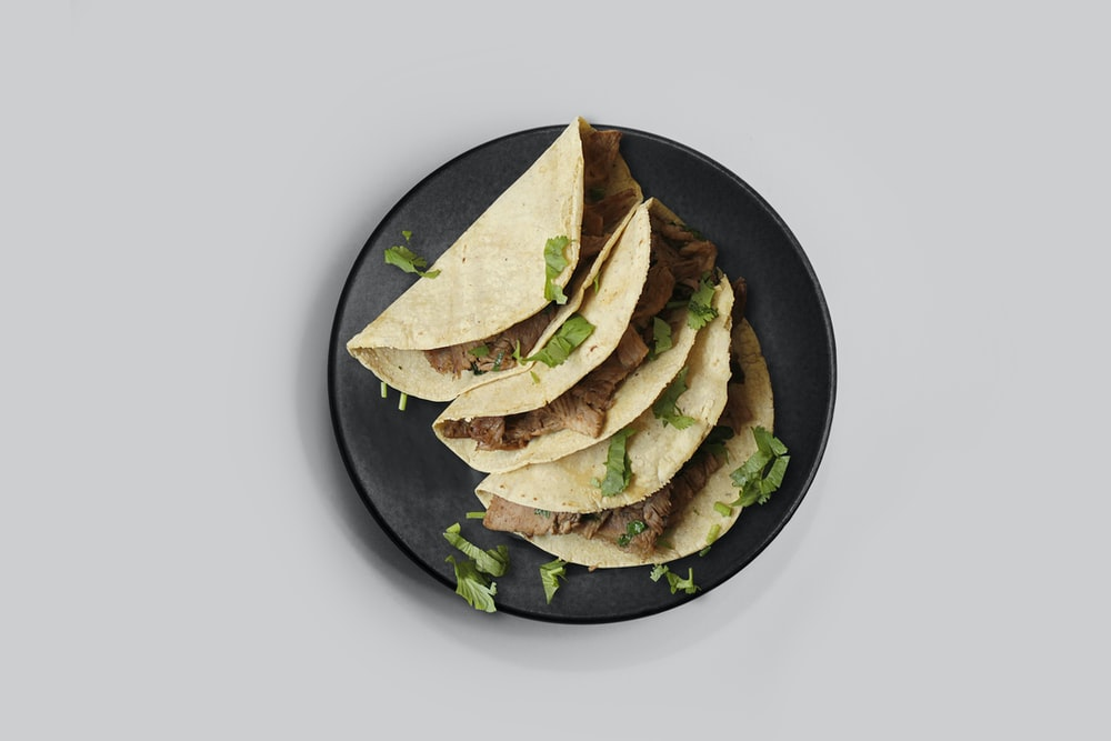 taco on plate