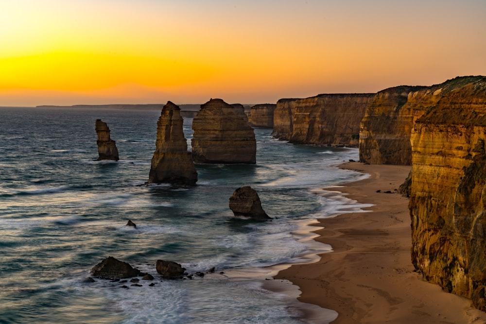 rock formations in ocean