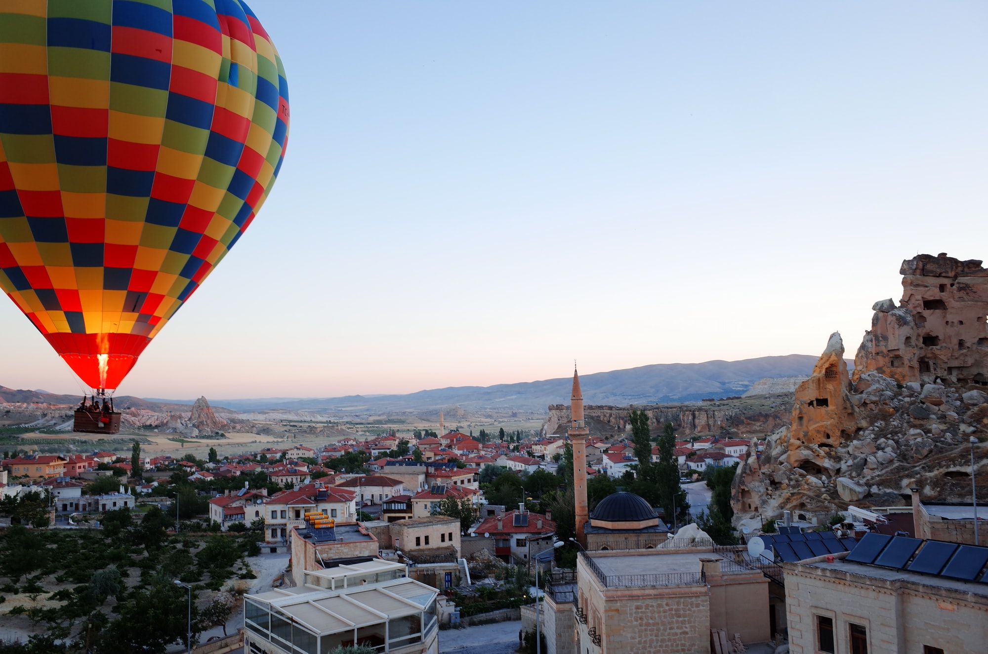 A hot air balloon in Cappadocia
