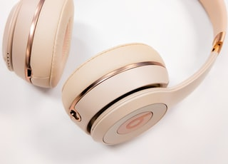 gold Beats wireless headphones
